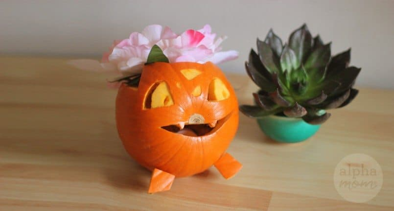 Pokemon Go Halloween: Bulbasaur & Ivysaur Jack-O'-Lanterns Tutorial by Brenda Ponnay for Alphamom.com