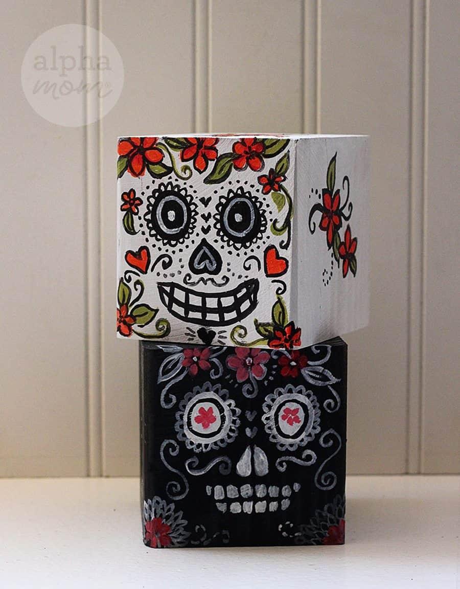 Day of the Dead / Dia De Los Muertos Blocks by Brenda Ponnay for Alphamom.com