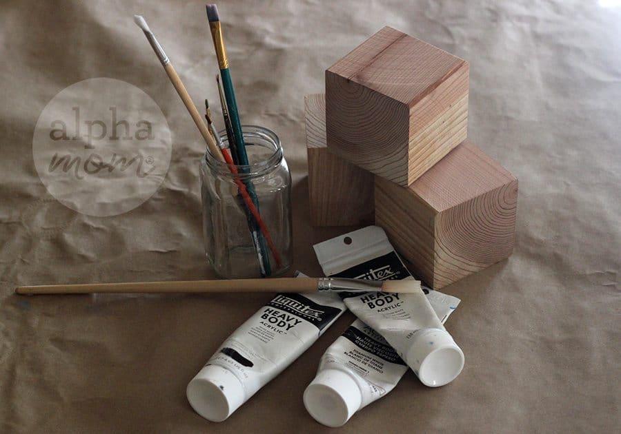 Day of the Dead Blocks (supplies) by Brenda Ponnay for Alphamom.com