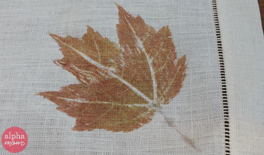 Fall Leaf Print Linens by Ellen Luckett Baker for Alphamom.com
