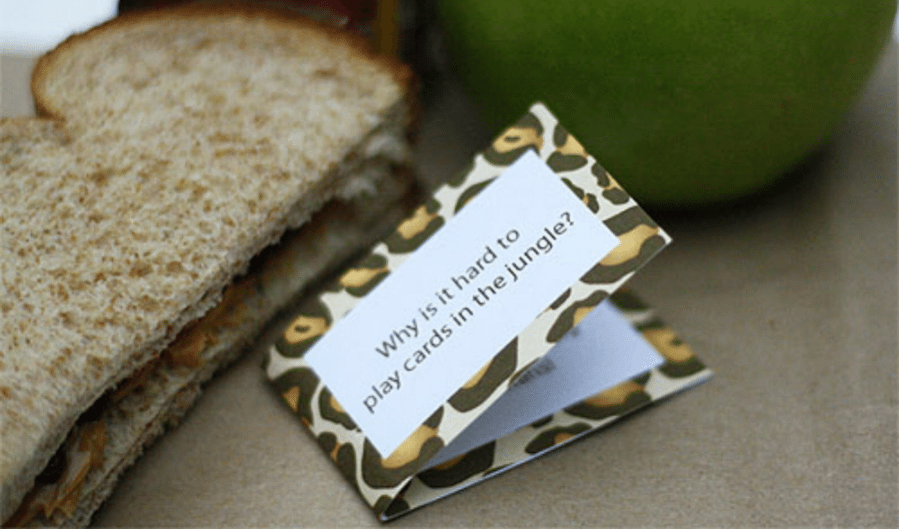 Printable Lunch Box Jokes by Cindy Hopper for Alphamom.com
