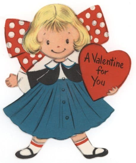 This is an image of Declarative Free Printable Vintage Valentine Cards