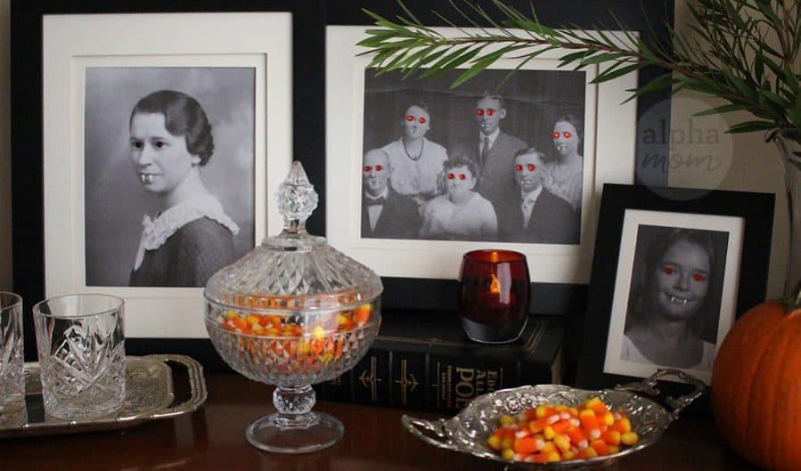 Family Vampire Portraits for a Freaky & Spooky Halloween by Brenda Ponnay for Alphamom.com