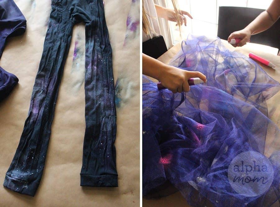 Fabric Painting DIY Kids Galaxy Costume for Halloween