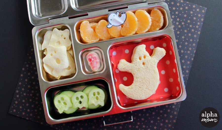 A Spooky Ghost Bento Box for Halloween Lunch by Wendy Copley for Alphamom.com