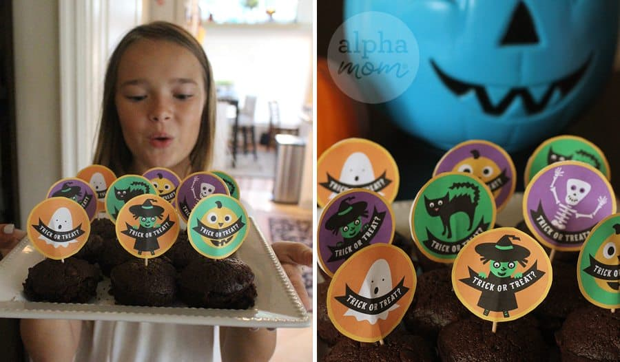 Trick or Treat Halloween Cupcake Toppers