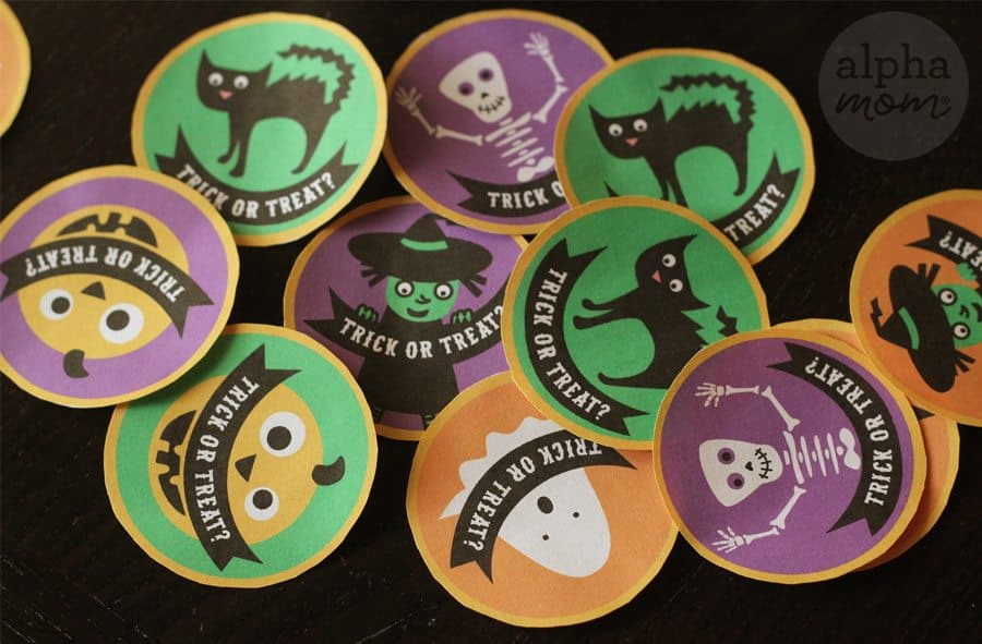 Halloween Cupcake Toppers Cut Outs