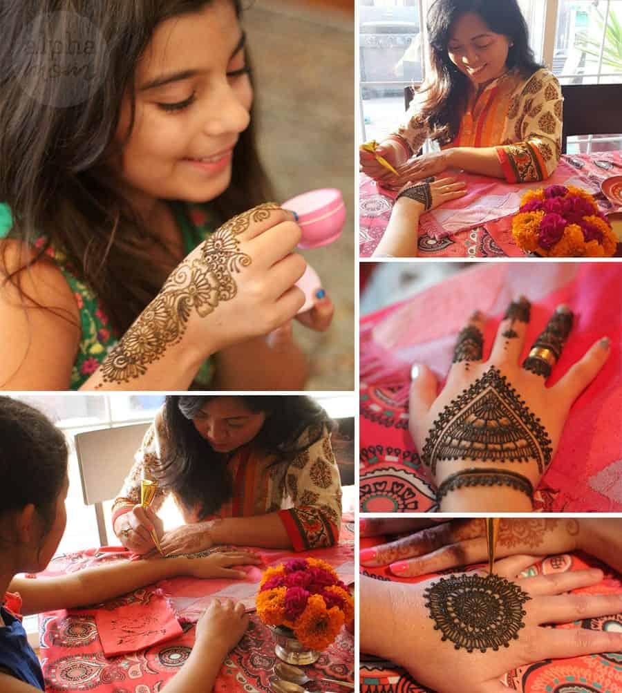 Host a Henna Party for Diwali! (henna application) by Brenda Ponnay for Alphamom.com