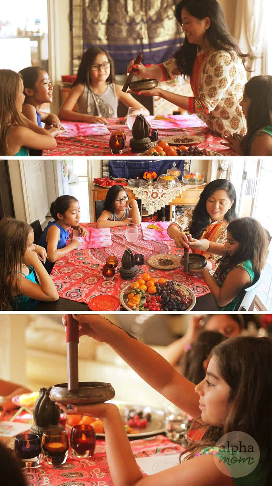 Host a Henna Party for Diwali! (singing bowl) by Brenda Ponnay for Alphamom.com