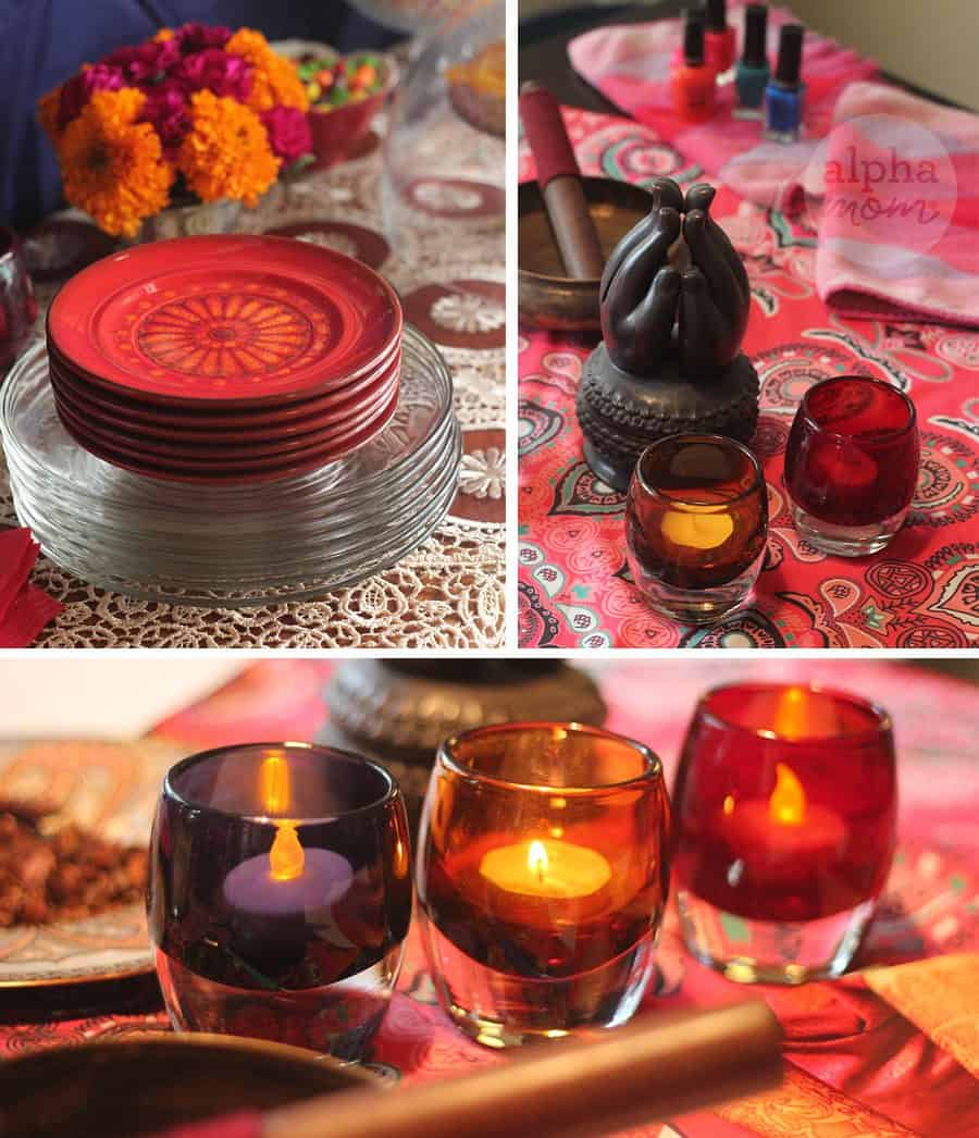 Host a Henna Party for Diwali! (party table) by Brenda Ponnay for Alphamom.com
