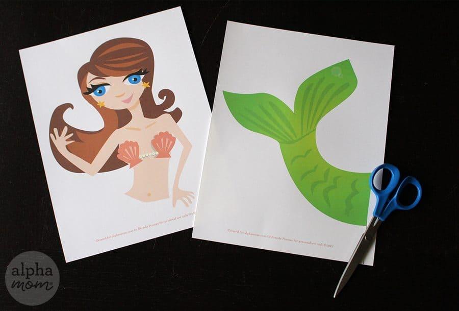 Make a Mermaid Pumpkin for Halloween! (printables) by Brenda Ponnay for Alphamom.com