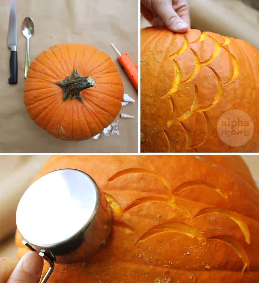 Make a Mermaid Pumpkin for Halloween! (pumpkin carving) by Brenda Ponnay for Alphamom.com