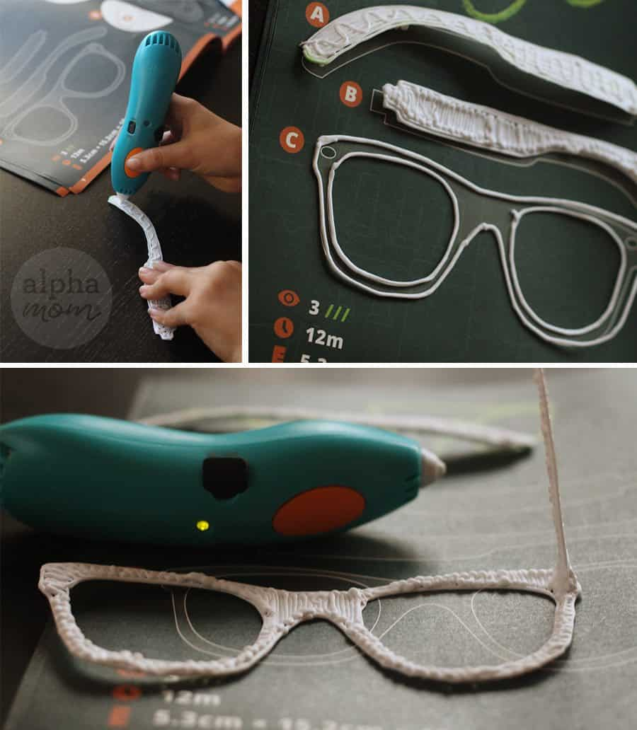3Doodler Start: Should You Buy It? An honest review from a craft mom. (making glasses) by Brenda Ponnay for Alphamom.com