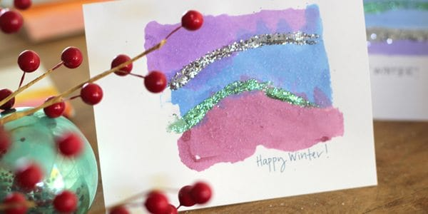 DIY Holiday Cards: the Abstract Snowscape by Brenda Ponnay for Alphamom.com