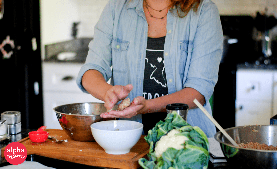 Build a Healthier Nugget for Kids: Double Cauliflower Turkey Nuggets (shaping nuggets) by Amy Storch for Alphamom.com