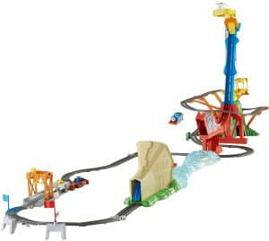 Thomas the Train TrackMaster Thomas' Sky-High Bridge Jump Toy Review: If you are looking for an amazing OMG holiday toy moment, this is it. It's sells for $78 but let me warn you just one thing about this toy.