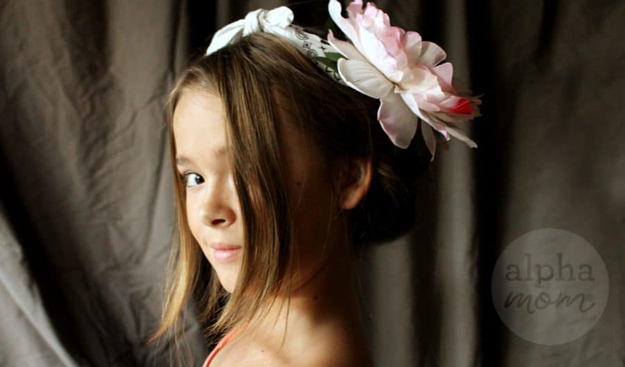 Five-Minute Kids' Holiday Fancy Up-Do Hair by Brenda Ponnay for Alphamom.com