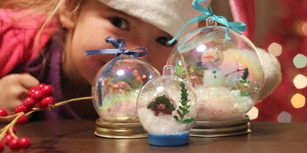 Winter craft waterless snow globes alpha mom for Snow globe craft for kids