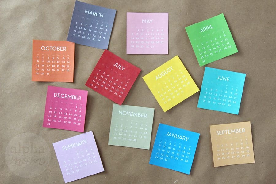 Start the New Year with a Block Calendar DIY! (calendar pages printable) by Brenda Ponnay for Alphamom.com