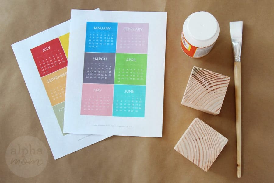 Start the New Year with a Block Calendar DIY! (supplies) by Brenda Ponnay for Alphamom.com