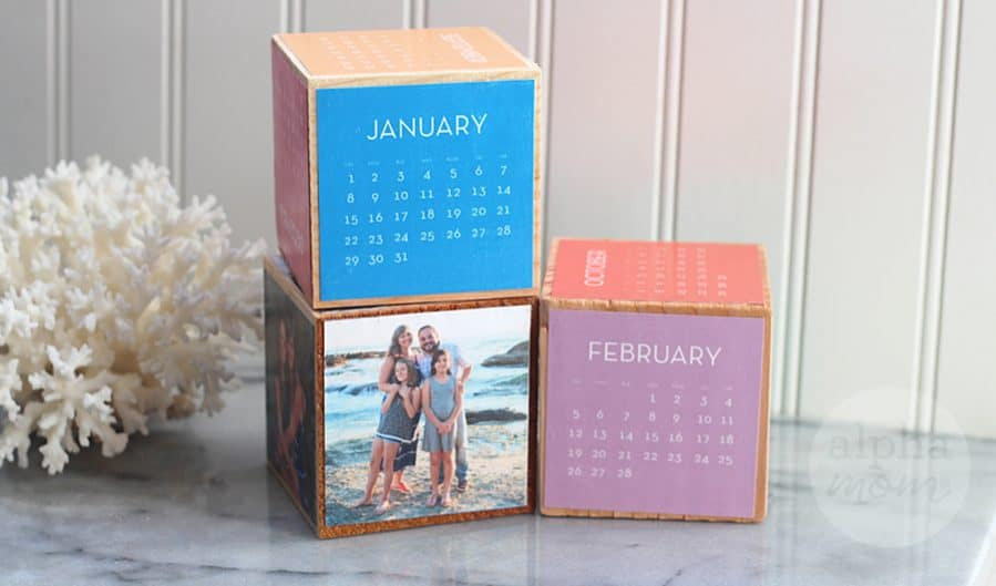 Start the New Year with a Block Calendar DIY! by Brenda Ponnay for Alphamom.com