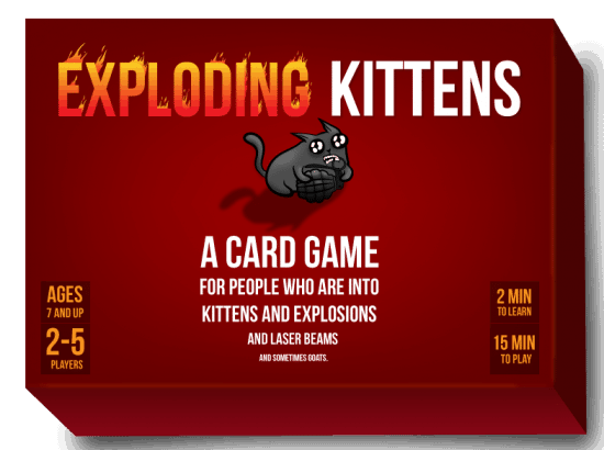 Family Game Night with Your Teenager: Exploding Kittens is a HIT with teens!