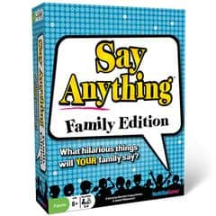 Family Game Night with Your Teenager: Say Anything Family is not a pick for us. Too simple for teens. Perhaps the original version.