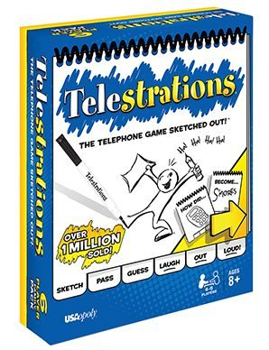 Family Game Night with Your Teenager: Telestrations Family Pack (ages 8+) is not a hit with us... perhaps the original version which is recommended for ages 12+ would be better suited for teens.