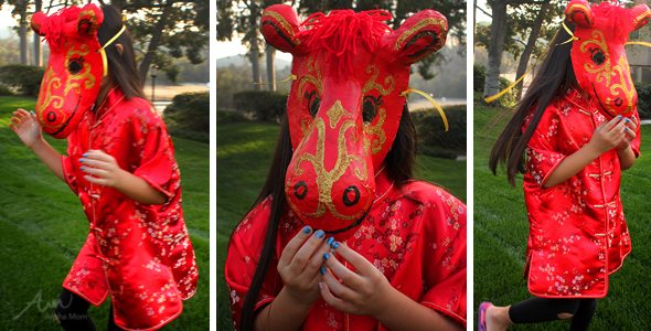 Chinese New Year: Year of the Horse Mask! by Brenda Ponnay for Alphamom.com