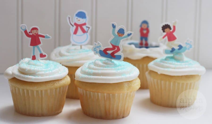 Snow Day Fun Cupcakes for a Winter-Themed Party by Brenda Ponnay for Alphamom.com