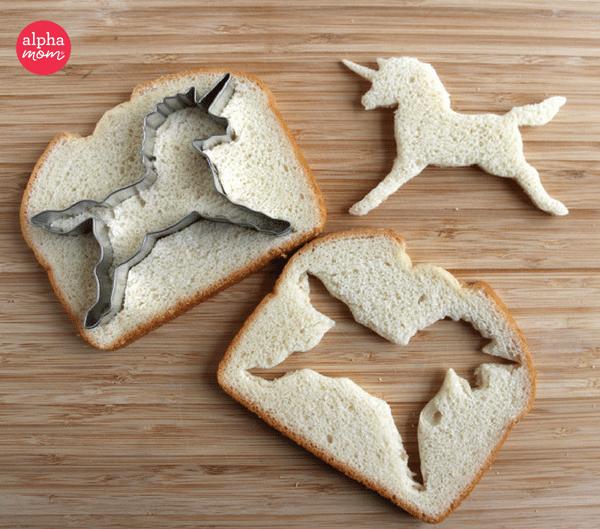 Unicorn Bento Box (unicorn sandwich) by Wendy Copley for Alphamom.com