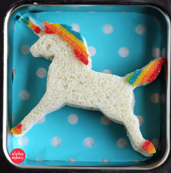 Unicorn Bento Box (final unicorn) by Wendy Copley for Alphamom.com