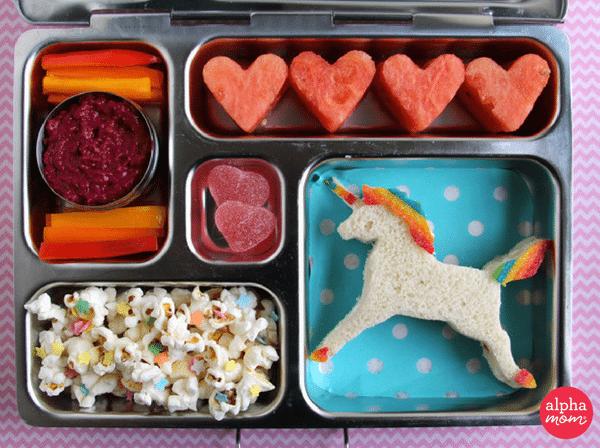 Unicorn Bento Box by Wendy Copley for Alphamom.com