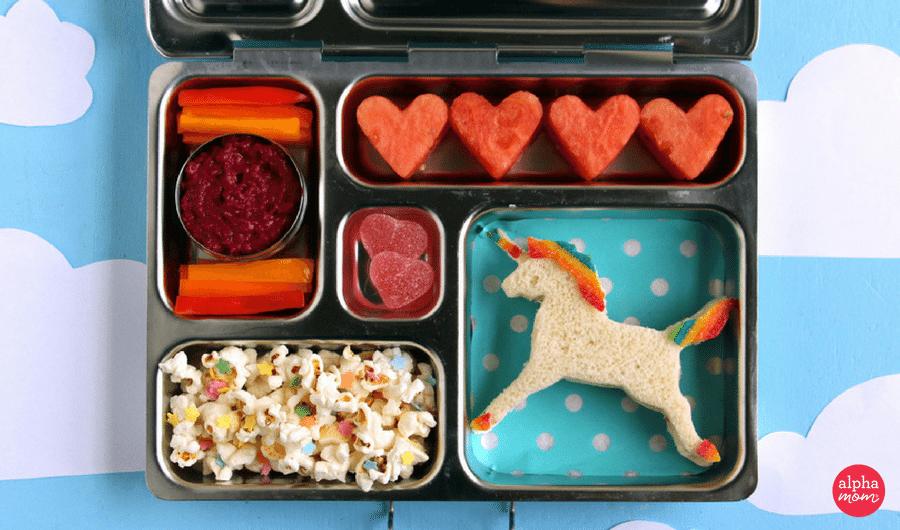 a magical unicorn bento box kids lunch alpha mom. Black Bedroom Furniture Sets. Home Design Ideas