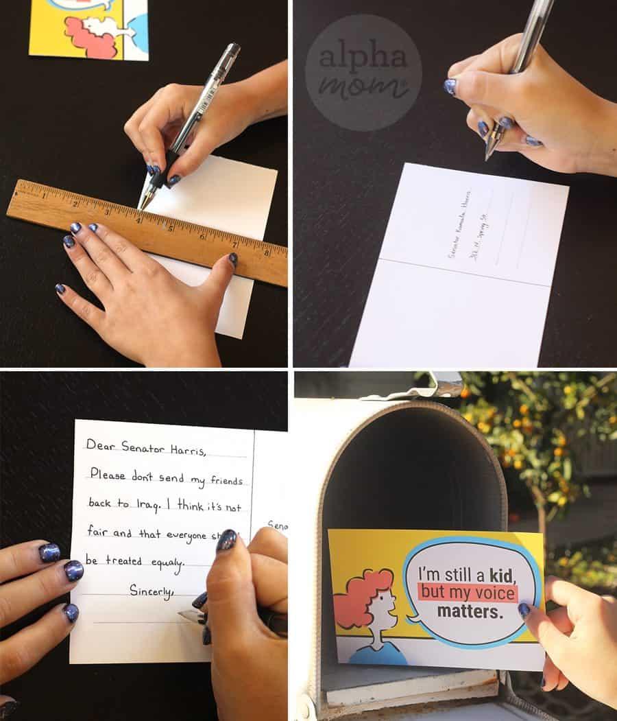 Helping Kids Write to Their Representatives (steps) by Brenda Ponnay for Alphamom.com