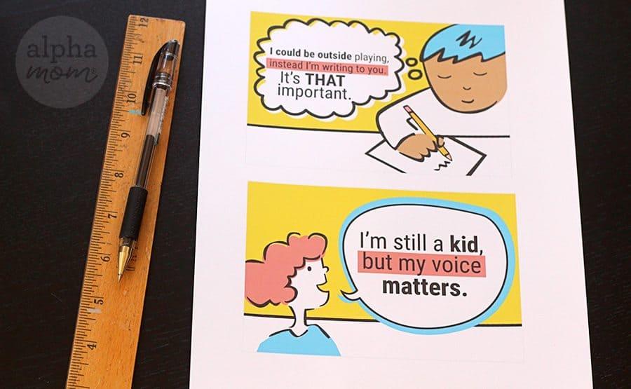 Helping Kids Write to Their Representatives (supplies) by Brenda Ponnay for Alphamom.com