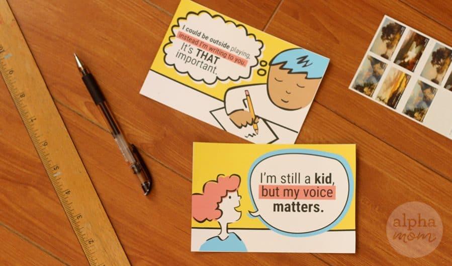 Helping Kids Write to Their Representatives by Brenda Ponnay for Alphamom.com