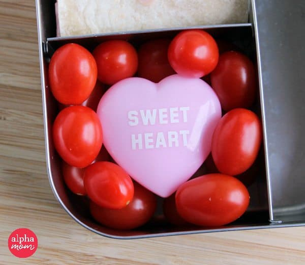 Love Letter Bento Lunch (grape tomatoes) for your Child on Valentine's Day by Wendy Copley for Alphamom.com