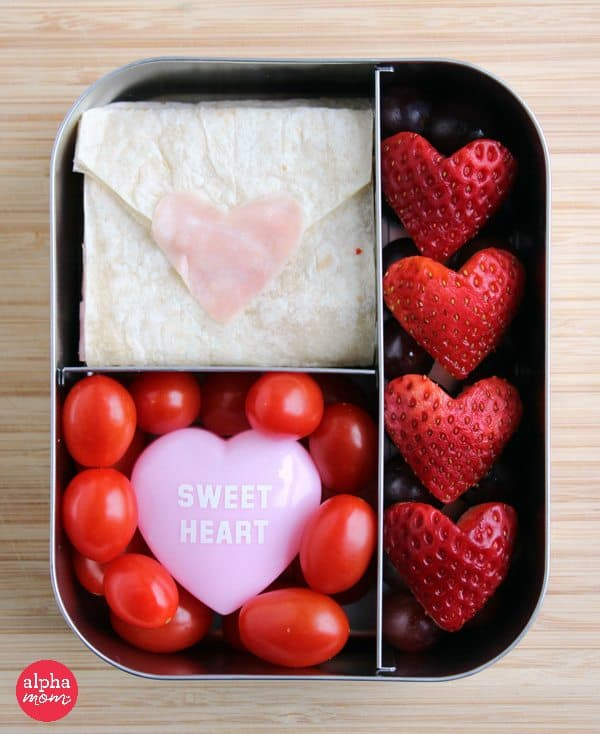 Love Letter Lunch in bento box for valentine's day