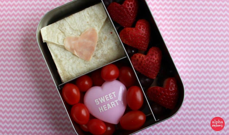 Love Letter Bento Lunch for Valentine's Day by Wendy Copley for Alphamom.com