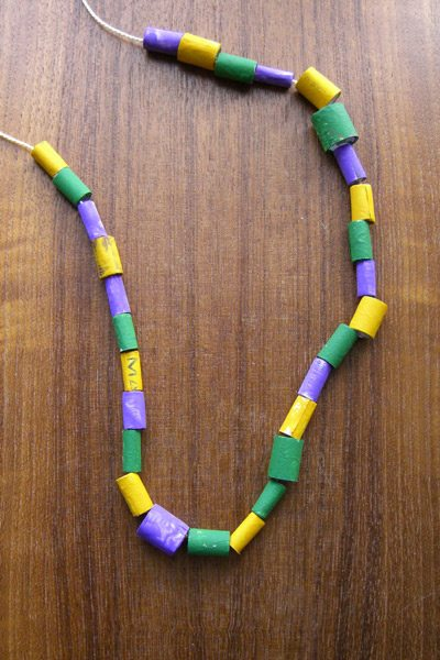 mardi gras beads alpha mom
