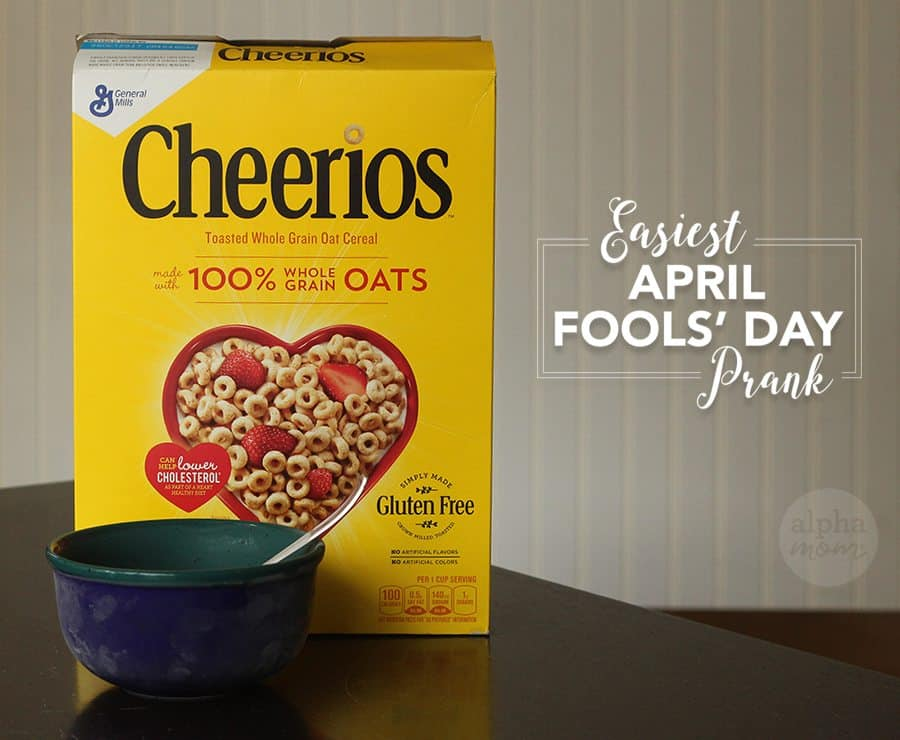 Easiest April Fools' Prank Ever! (Frozen Cereal) by Brenda Ponnay for Alphamom.com