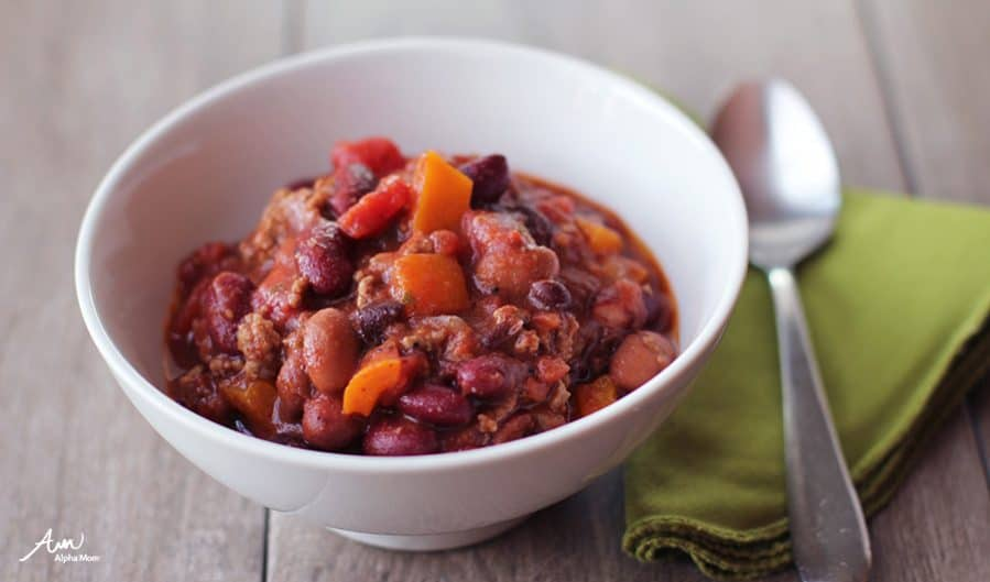 Bean Chili (Recipes Kids Should Know Before Leaving Home) | By Jane Maynard at Alpha Mom
