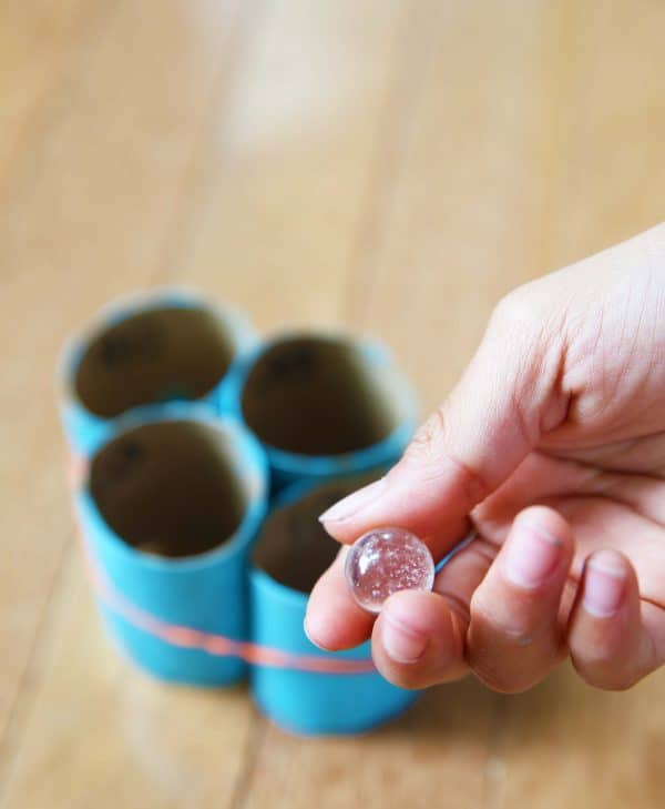 Marble Toss Game DIY by Cindy Hopper for Alphamom.com