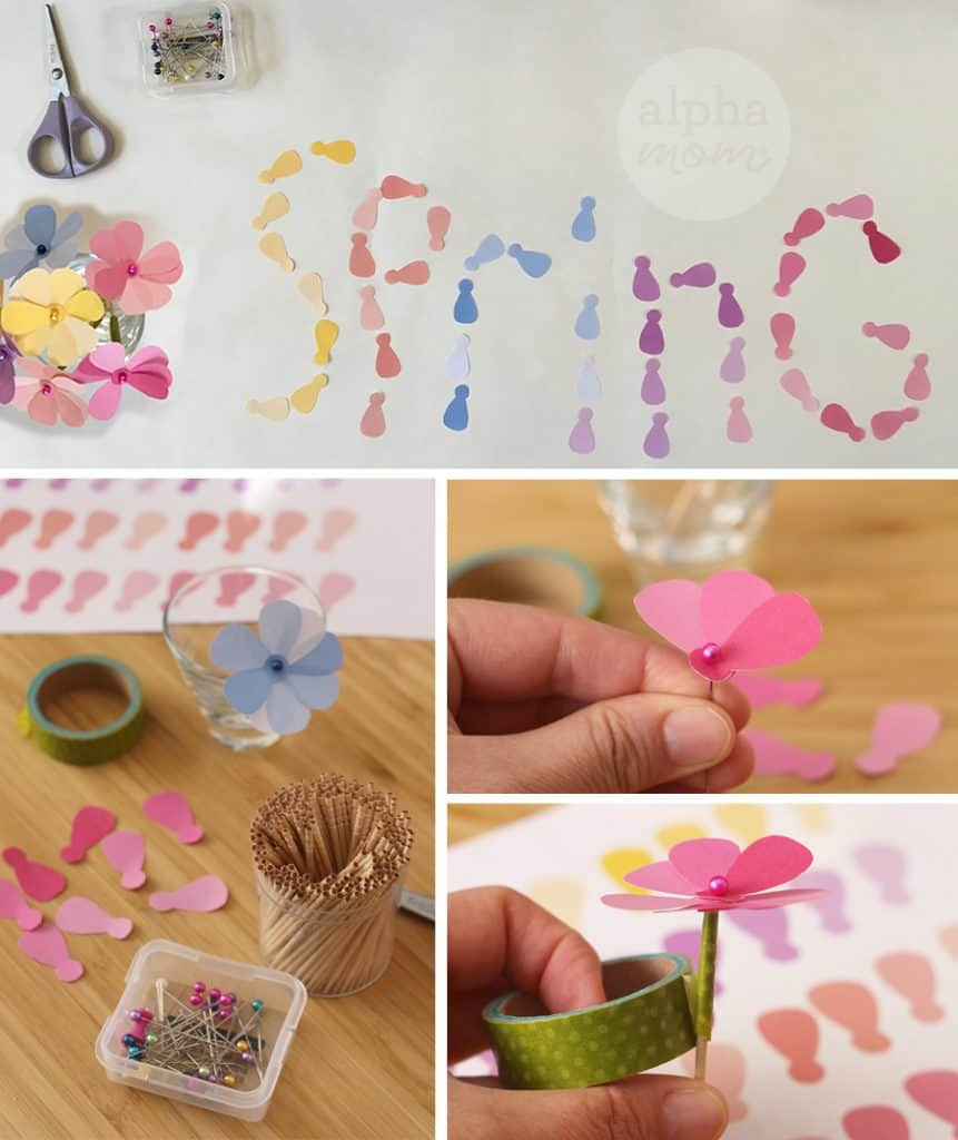 Tutorial for making Pretty Petal Cupcake Toppers