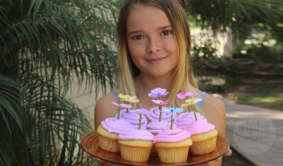 Pretty Petal Cupcake Toppers for Spring! by Brenda Ponnay for Alphamom.com