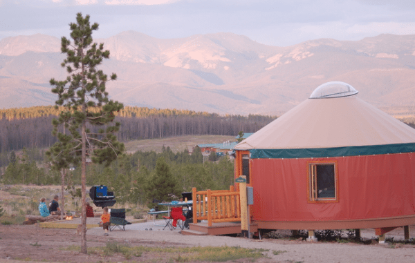 Snow Mountain Ranch in Winter Park, Colorado (yurt lodging)