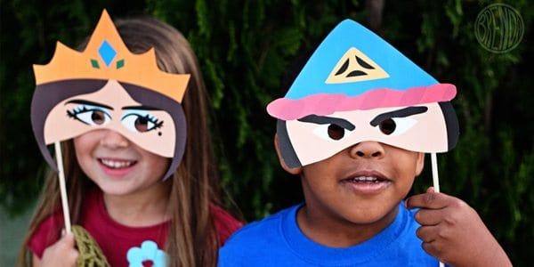 Printable Purim Masks! (Vashti and Haman) by Brenda Ponnay for Alphamom.com