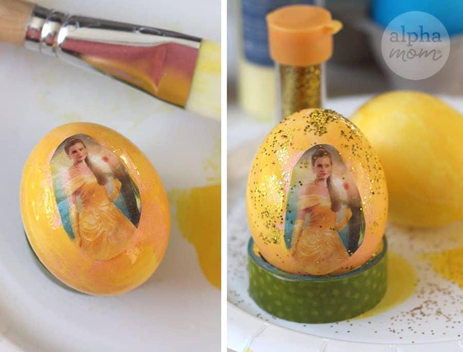 10 Beauty and the Beast Inspired Easter Egg DIYs: Belle (by Brenda Ponnay for Alphamom.com)
