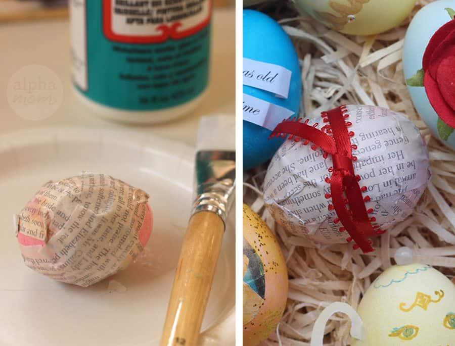 10 Beauty and the Beast Inspired Easter Egg DIYs: Belle's Books (by Brenda Ponnay for Alphamom.com)
